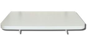 Mesa em MDF super reforçada com 3,5 cm de espessura toda revestida em fórmica texturizada