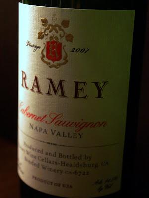 Ramey Cabernet Sauvignon Napa Valley 2007 wine