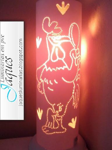 luminária de pvc galo porto de galinhas