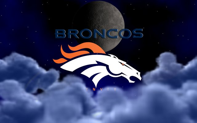 Denver Broncos Above The Clouds Wallpaper
