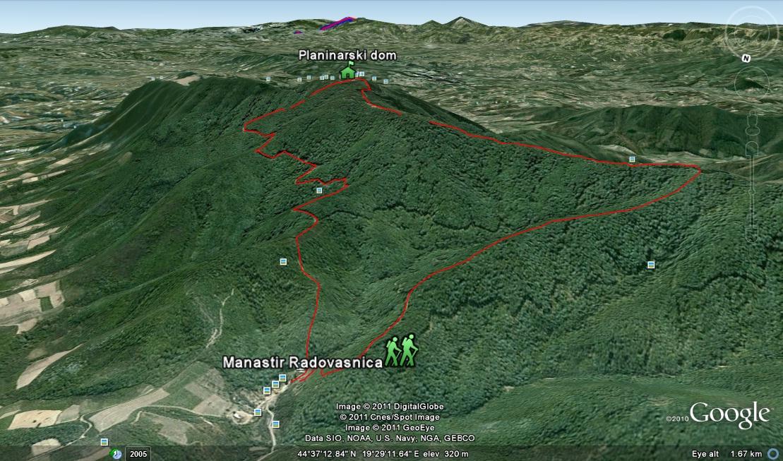 Planinari i alpinisti Cer+-+Manastir+Radovasnica