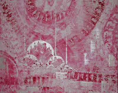 Pink Pearl Mosque. 150 x 120cm