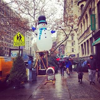 ニューヨーク・アッパーウエストのスノーマン