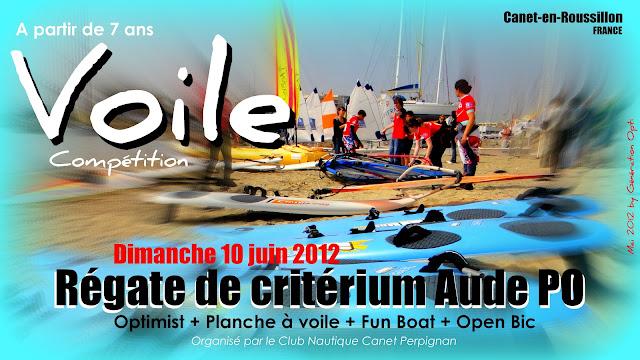 Canet_en_Roussillon Optimist Voile école_de_sport régate Critérium CNCP