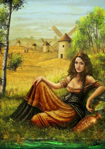 Dulcinea del Toboso.- Don Quijote de la ancha