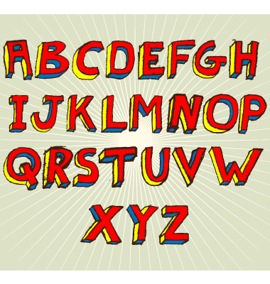 I Have Always Loved Doodling Shapes Hairstyles Clothing And Especially Fonts By Far My Favorite Lettering Style Was A One Point Perspective 3D Alphabet
