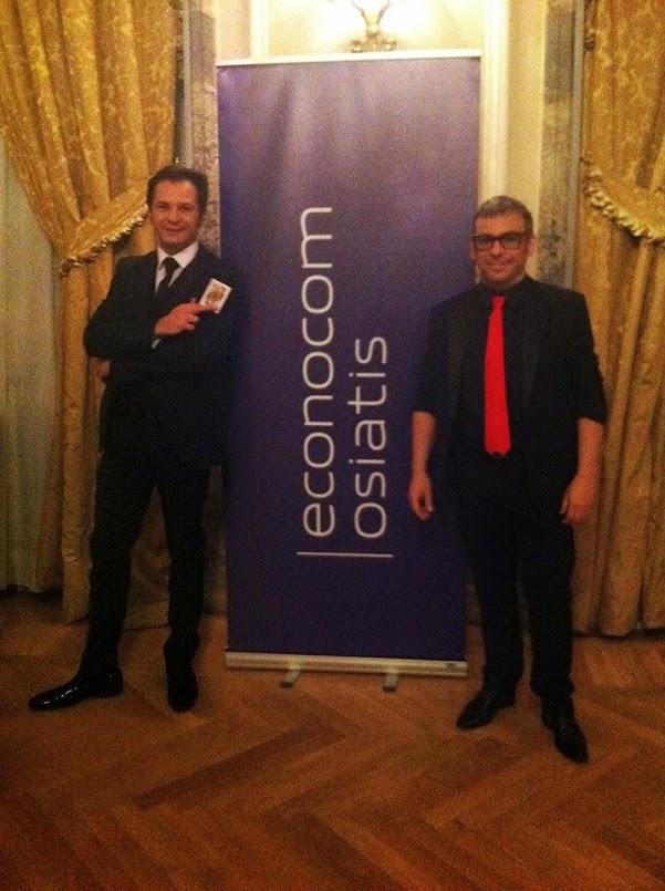 Robin Ventura y Alfonso V Evento empresa Econocom