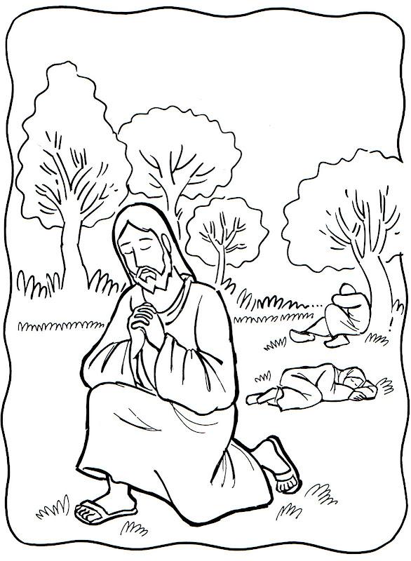 Dibujos Católicos : Oracion de jesus para colorear, pintar e imprimir