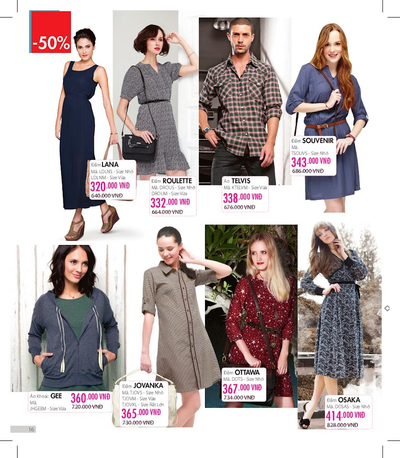 Sophie Outlet 07 khuyến mại 50% tháng 04/2014