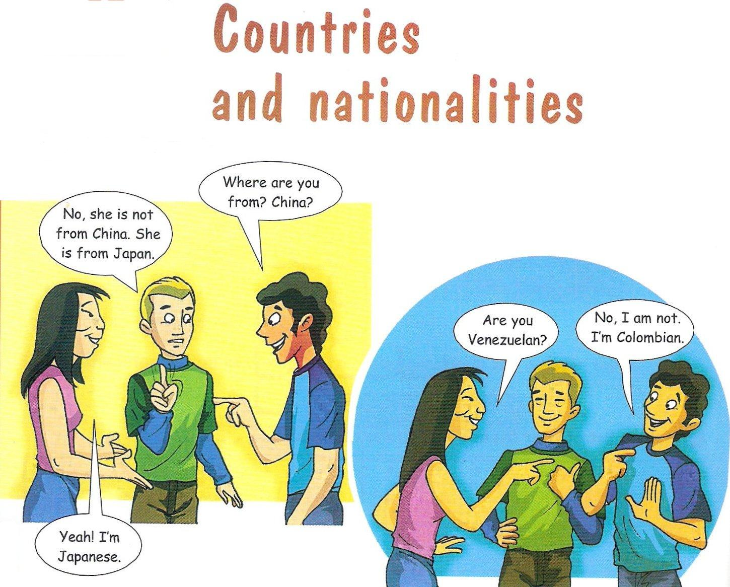 My English Class Countries And Nationalities