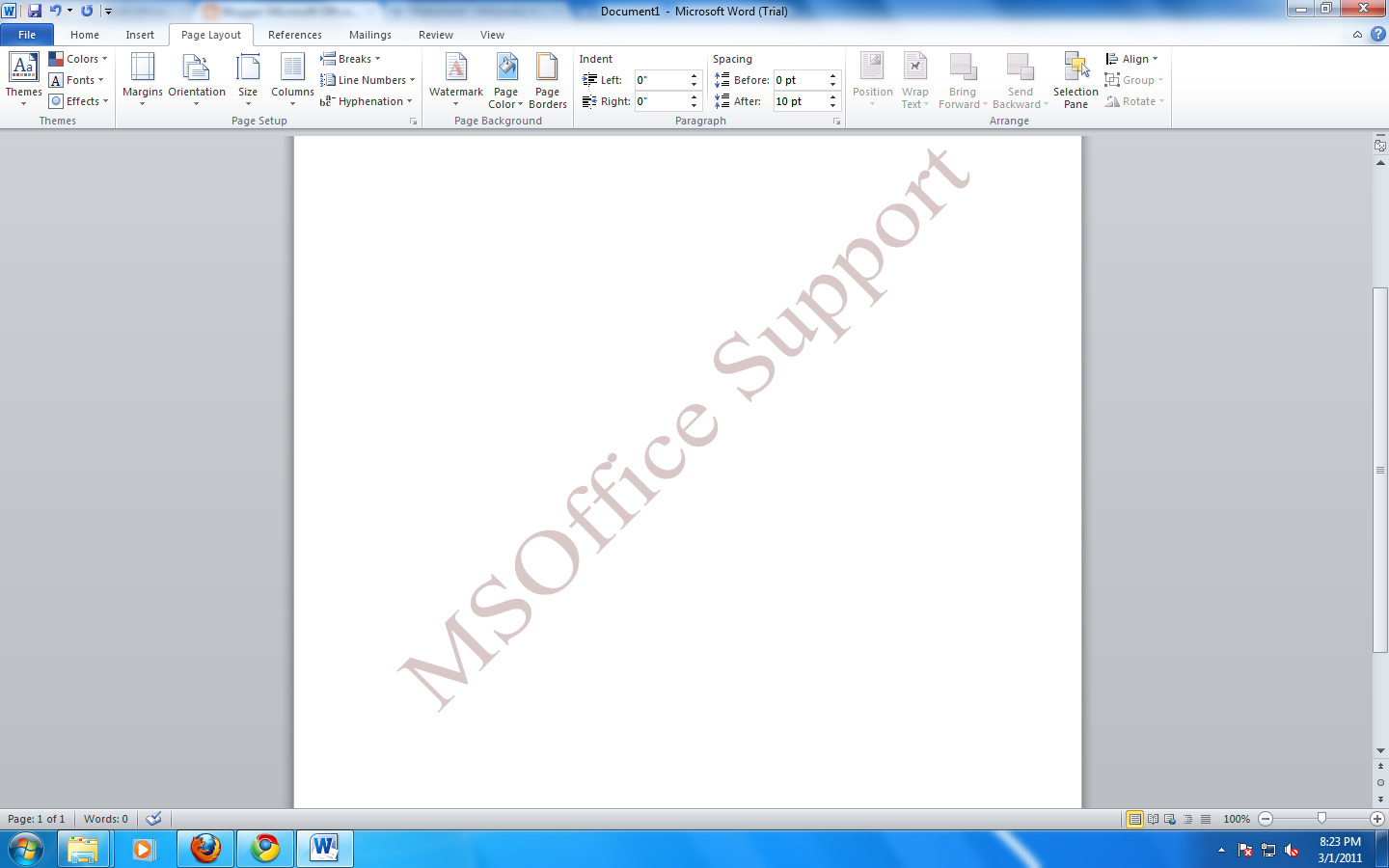 watermark in microsoft word microsoft office support 4 click ok to get the desired watermark