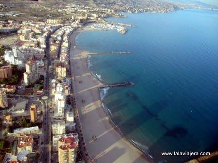Playa de Carrer la Mar desde el aire