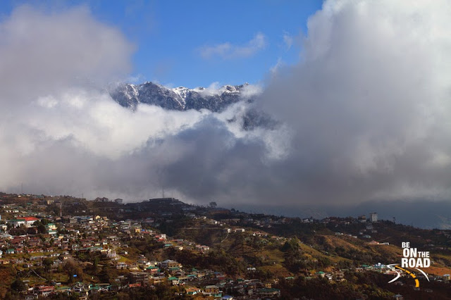 Tawang and the snow capped Himalayas