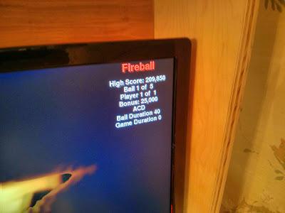 On screen fireball debug