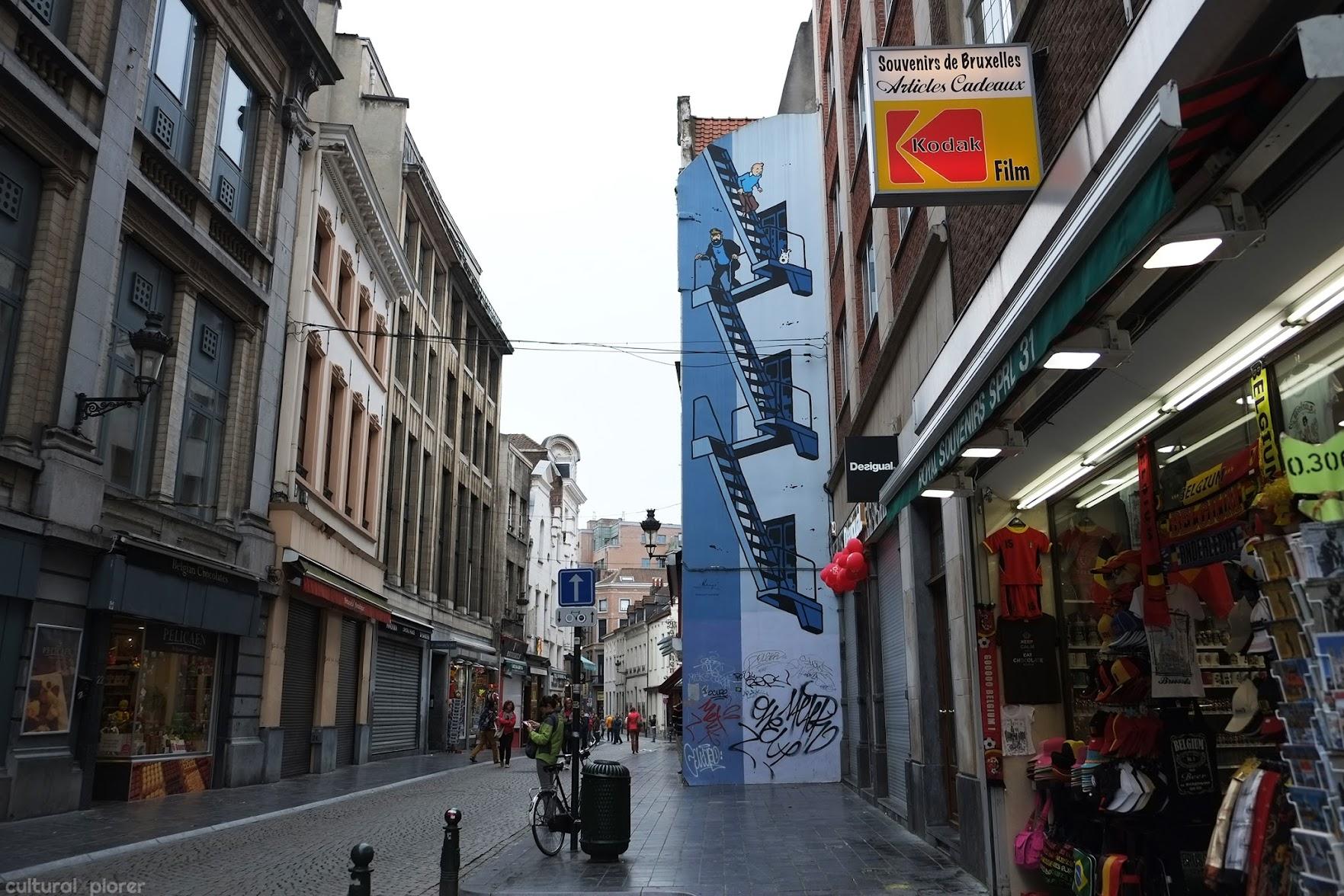 Tintin by Herge Brussels Street Art
