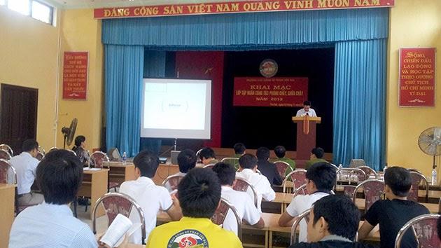 Tập huấn phòng cháy, chữa cháy năm 2013 tại Trường Cao đẳng Sư phạm Yên Bái