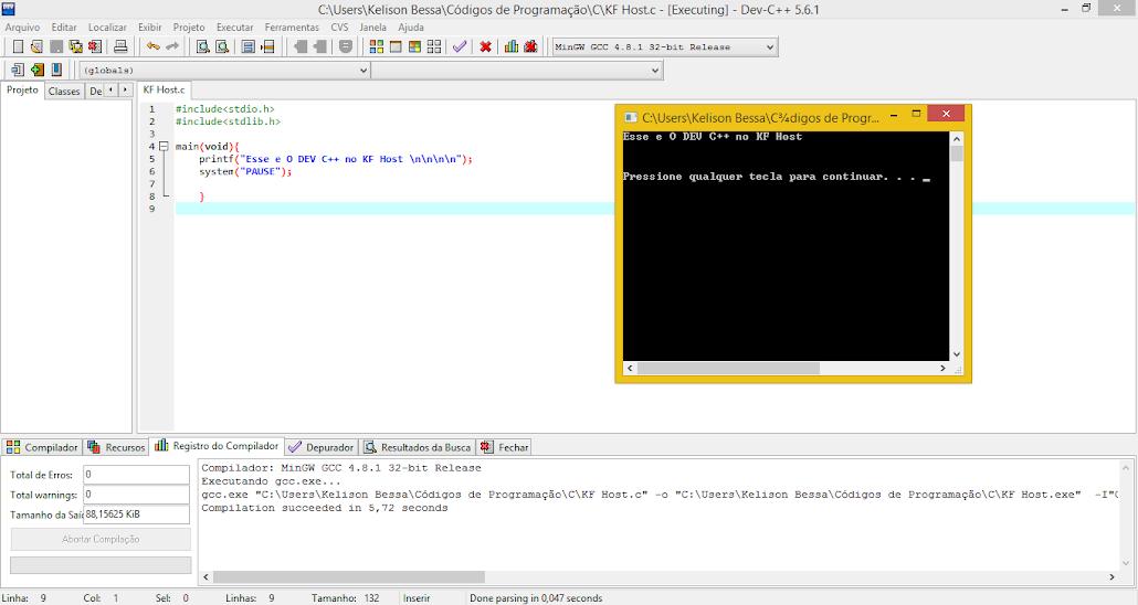 Dev-C++ 5.6.1 - KF Host