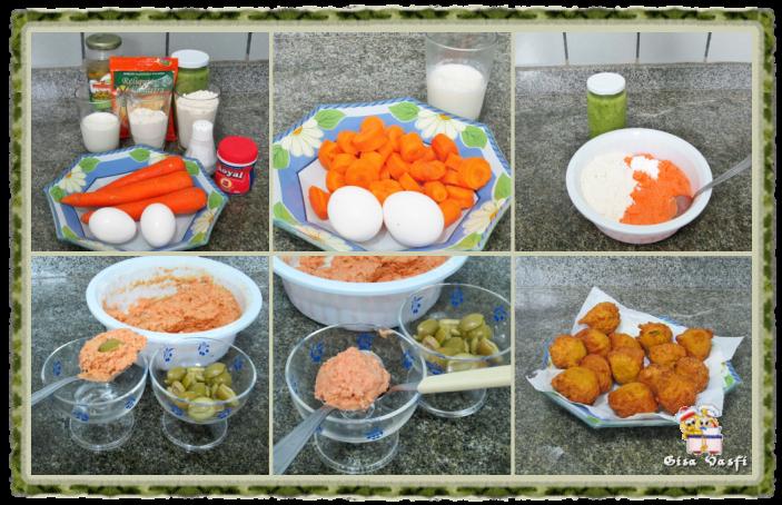 Bolinhos fritos de cenoura