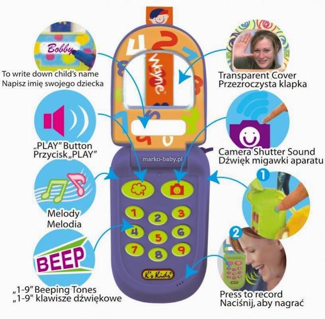 Điện thoại cho bé màu xanh tím mã KA10516-GB còn rất nhiều điều lý thú