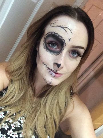 sugar skull, make up, make up artist, vegas nay, sugar skull make up, halloween, halloween make up, creative, art, superdrug, mua, boots, eyelure