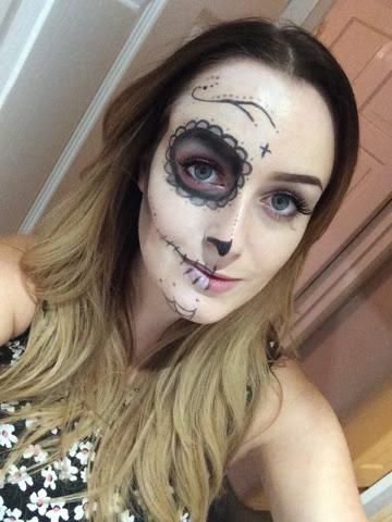 sugar skull, make up, make up artist, vegas nay, sugar skull make up, halloween, halloween make up, creative, art, superdrug, mua, boots, eyelure