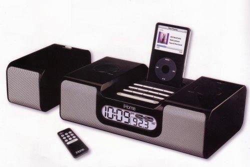 iHome iH7 Dual Alarm Clock and Radio for iPod (Black)