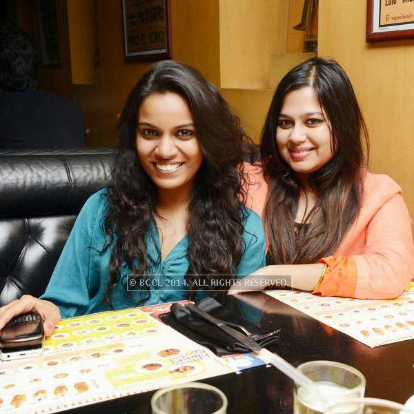 Divya and Ami during a Weekend party, held at Zaras Tapas Bar.