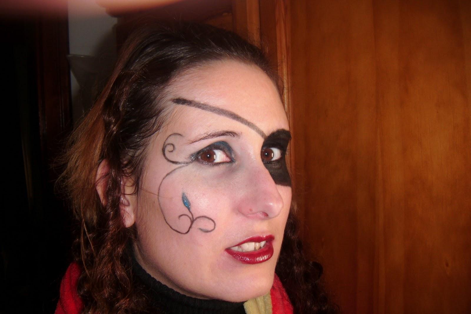 Maquillaje pirata mujer parche - Maquillaje pirata nina ...