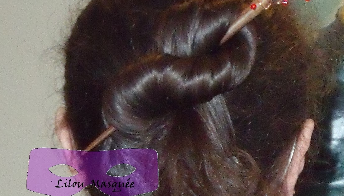 Tuto coiffure minute chignon demi 8 queue de cheval coiffure cheveux long extension cheveux - Demi queue chignon ...