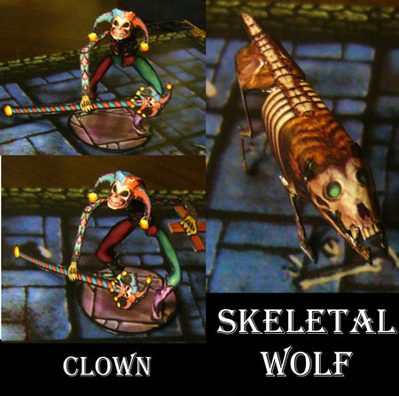 Clown Skeletal Wolf Papercraft