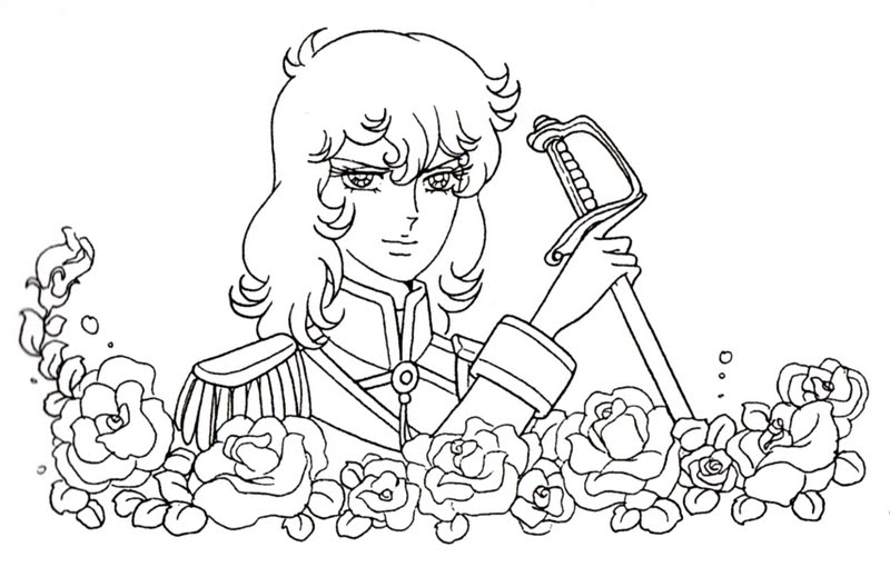 Lady Oscar coloring pages