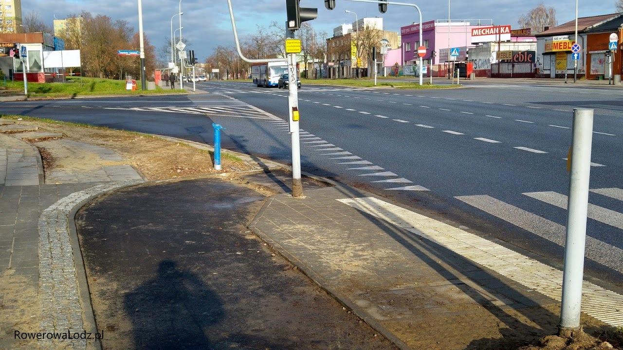 Makabrycznie ostry skęt przy skrzyżowaniu z Kosynierów Gdyńskich