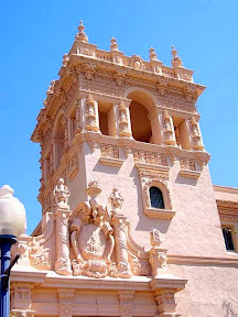 Architecture of Balboa Park, a great walk and lots of museums in San Diego