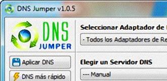 Establecer los mejores DNS para aumentar la velocidad de internet con DNS Jumper