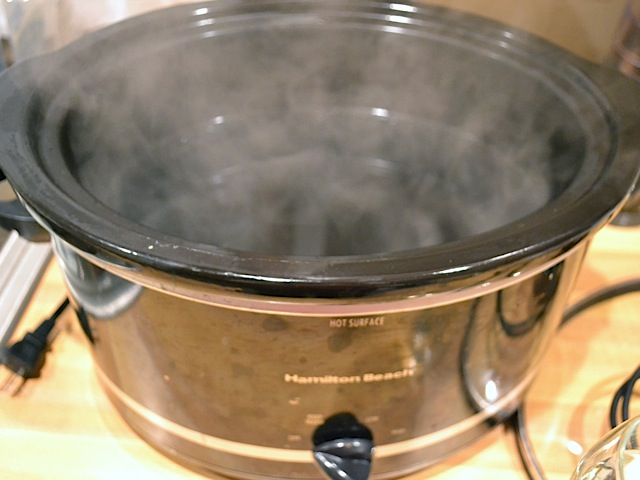 warm slow cooker