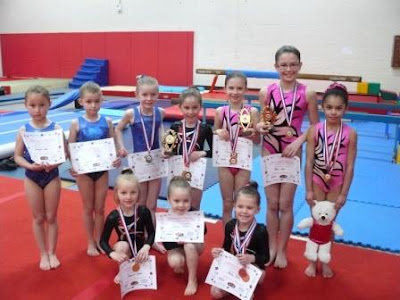 County Floor and Vault gymnasts