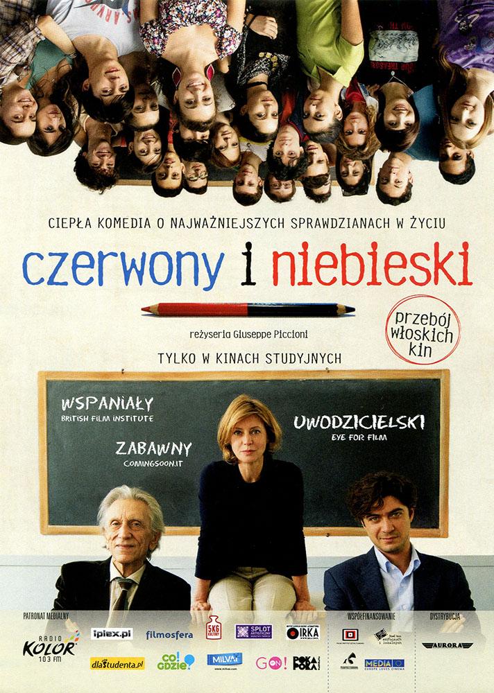 Ulotka filmu 'Czerwony i Niebieski (przód)'