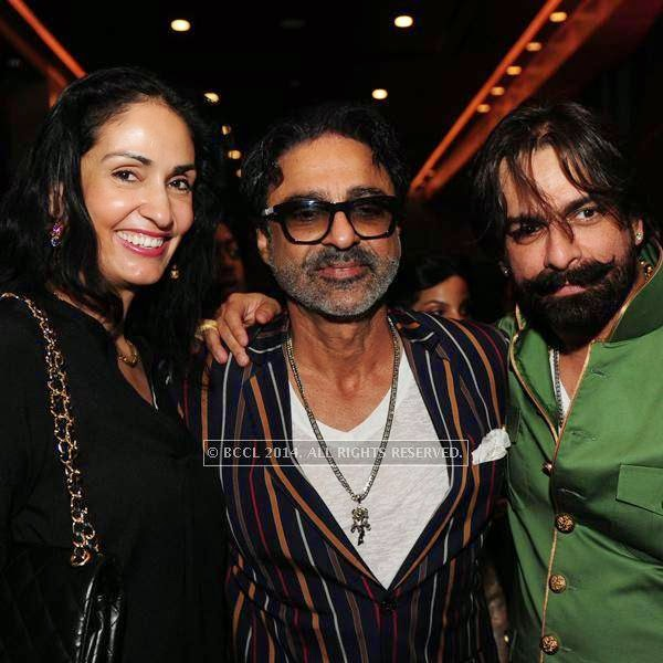 Simar Duggal, Raja Dhody and Jas Arora at designer Shantanu and Nikhil Mehra's Autumn Winter Couture pre and post-show party, hosted at the JW Marriott Hotel New Delhi Aerocity.