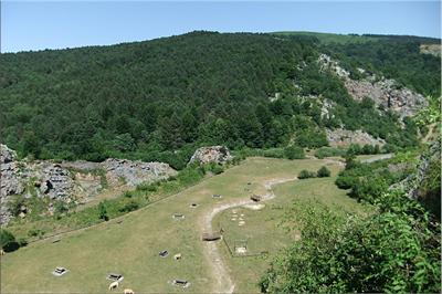 Parque en las antiguas canteras