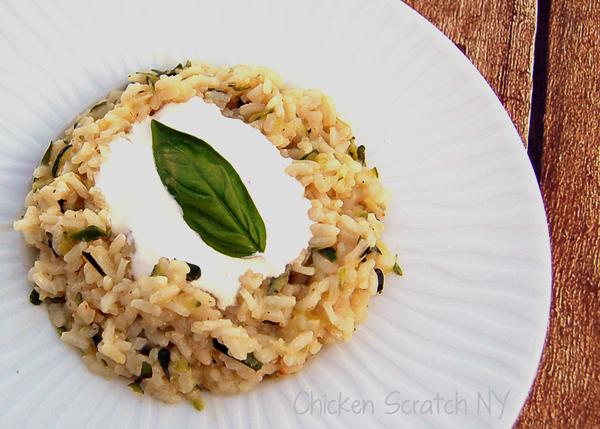 Creamy Zucchini Risotto