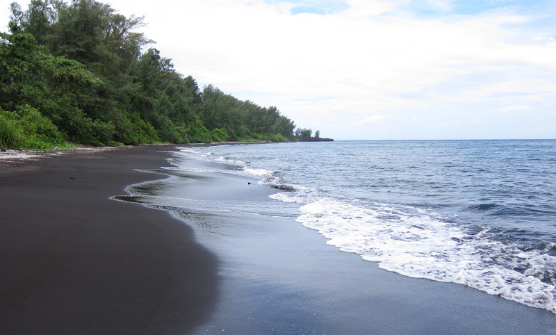 The beach on Anak Krakatoa island