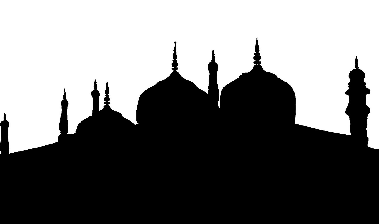 The next silhouette is an unfinished version of the same mosque above ...