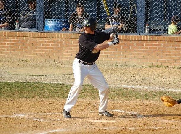 Mike Smith batting against Trinity Christian.