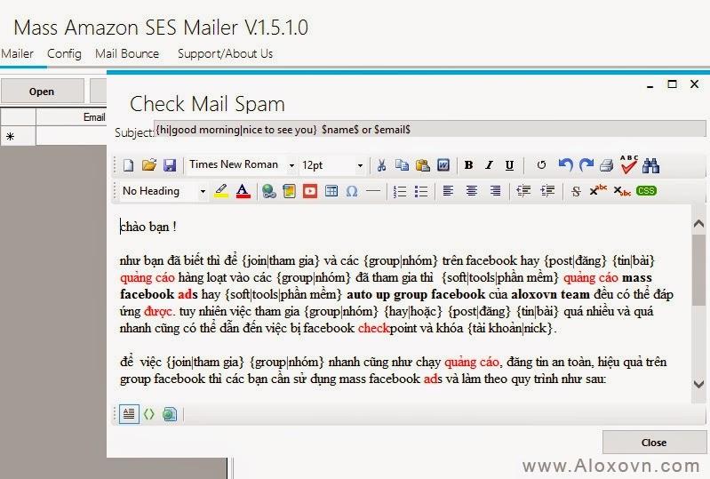 Kiểm tra nội dung email trước khi gửi để xác nhận không spam