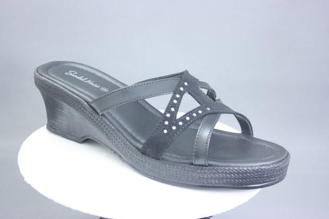High wedge vegan strappy sandal