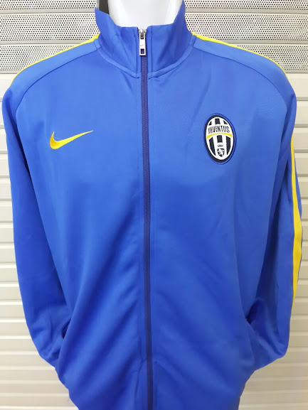 Jual Jaket Juventus Biru List Kuning Terbaru 2014-2015
