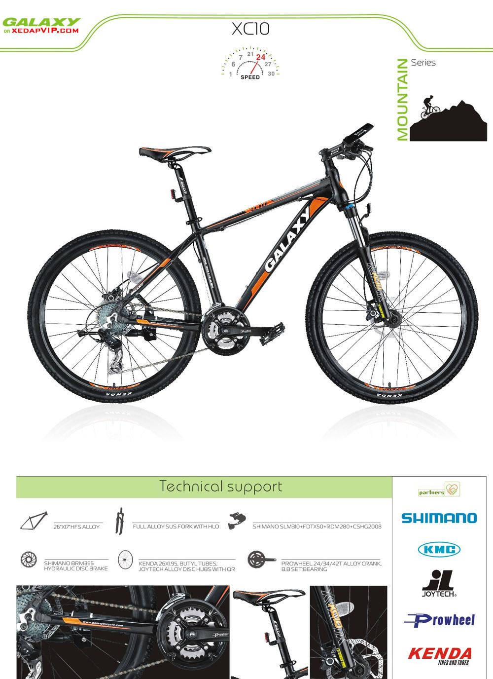 Xe dap the thao GALAXY XC10, xe dap the thao, xe dap trinx, xe đạp thể thao chính hãng, xe dap asama, xc10