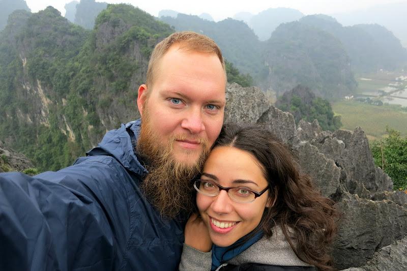 Us in Ninh Binh, Vietnam