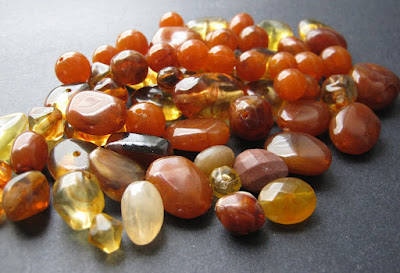 Faux Amber Beads