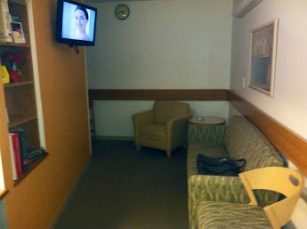 The waiting room for your loved ones. Complete with a tv